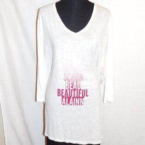 3X Catherines White Beautiful 3/4 Sleeve Top NWT